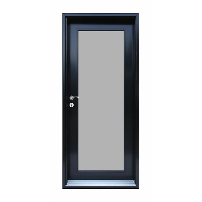 Door Frame Alum Assembled 2110x888 Rh Pearl Panel Black