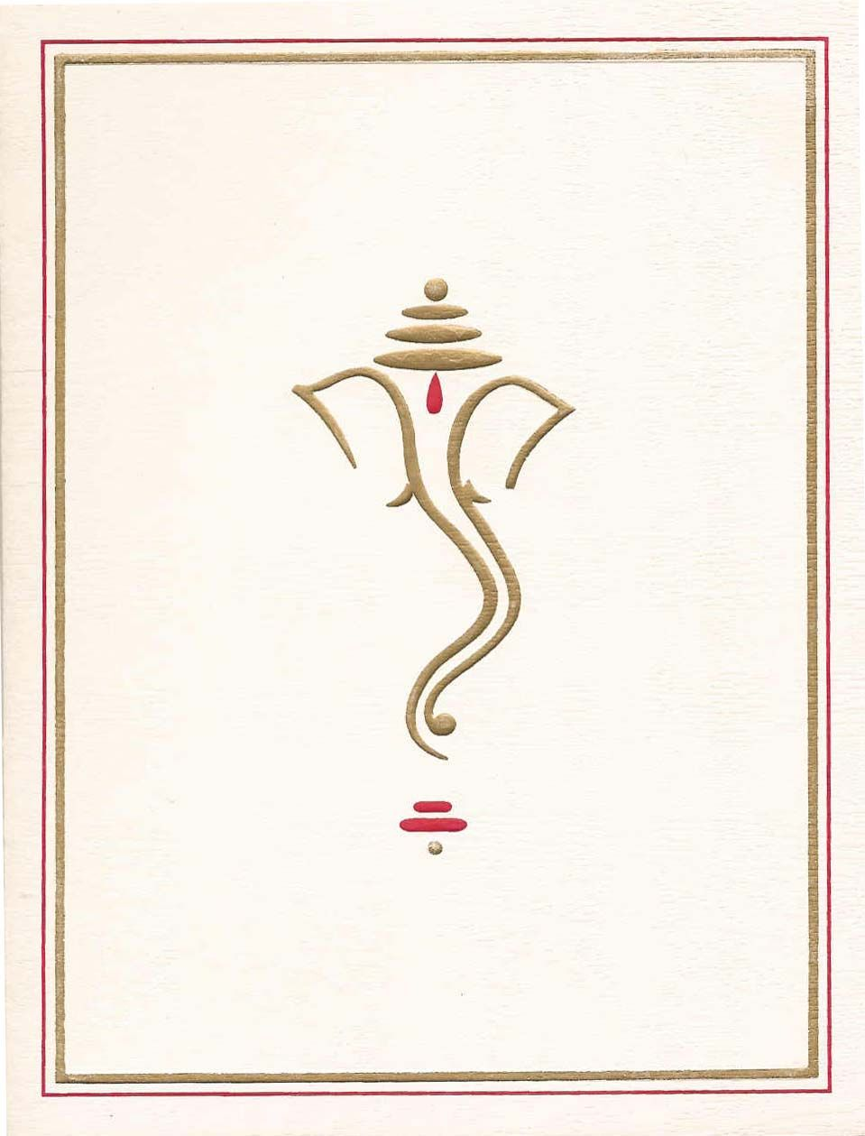Ganesh Symbol For Wedding Cards Gold Google Search Wedding