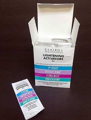 5 Packets Clairol Professional Lightening Activator 7th Stage Instant Whip 0 5oz Now Only