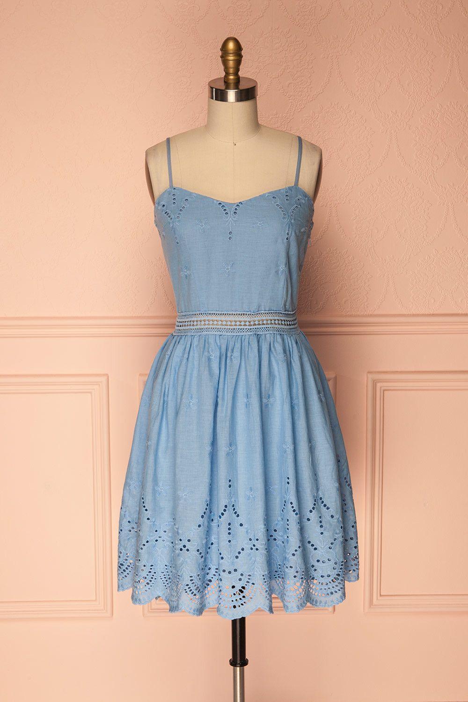 Elka sky eyelet lace summer dresses and sandals
