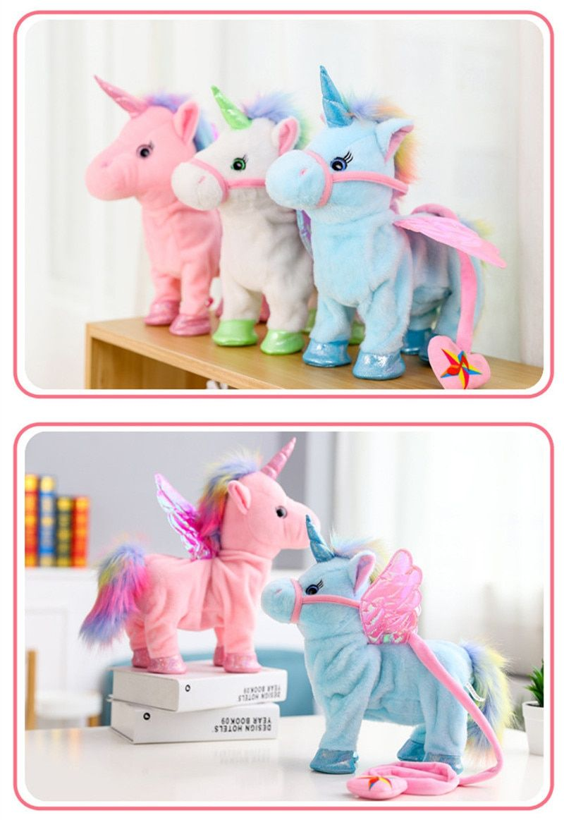 Electric Walking Unicorn Plush Toy in 2019 Christmas