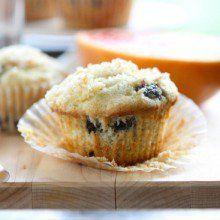 Blueberry Lemon Muffins {gluten free} at laurenslatest.com