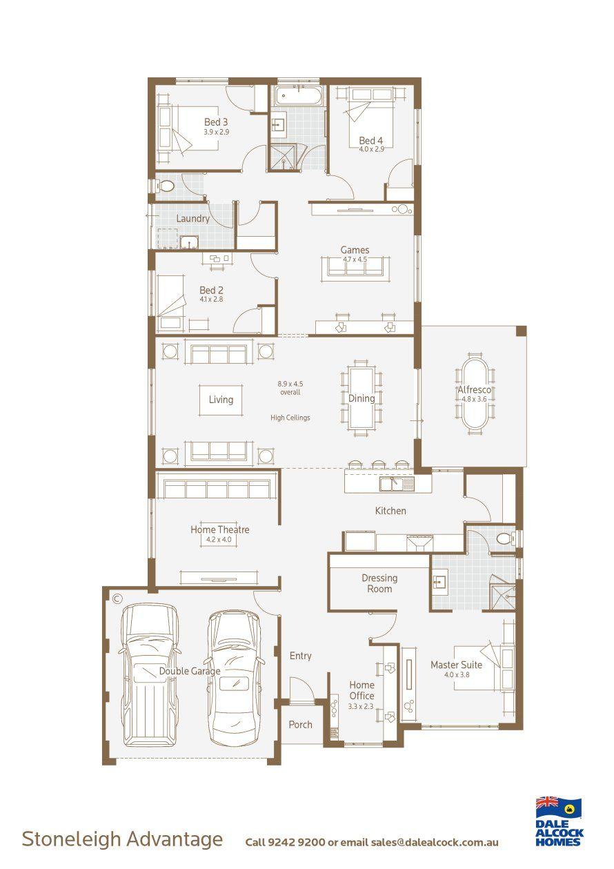 Dale Alcock Stoneleigh Advantage Floorplan Dream House Plans Home Design Floor Plans House Blueprints