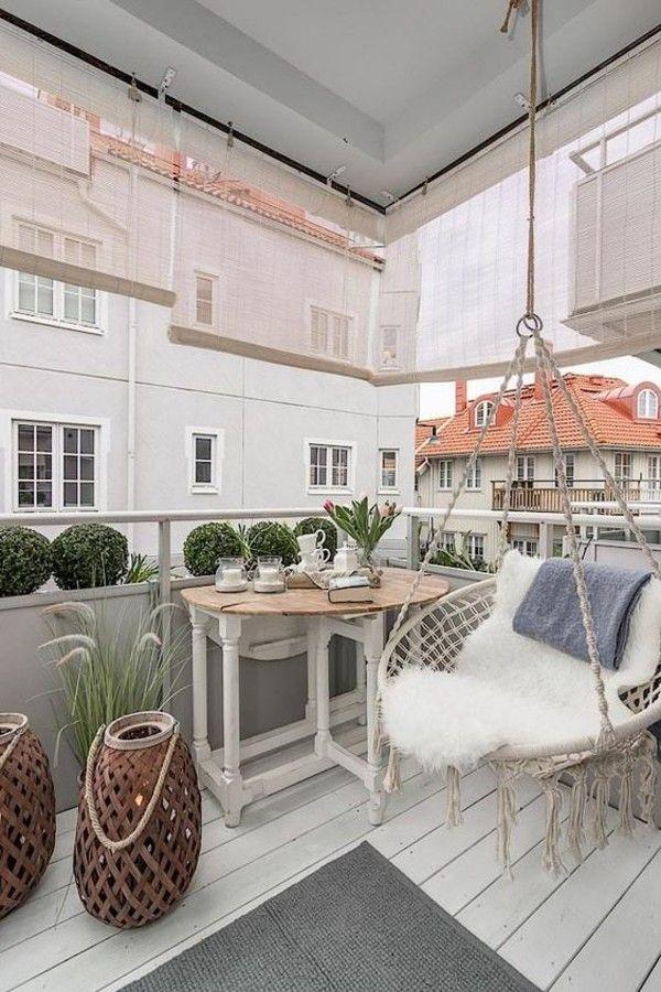 50 Ideen, Wie Man Die Kleine Terrasse Gestalten Kann | Balkon Ideen |  Pinterest | Balcony, Balcony Design And Apartment Balconies