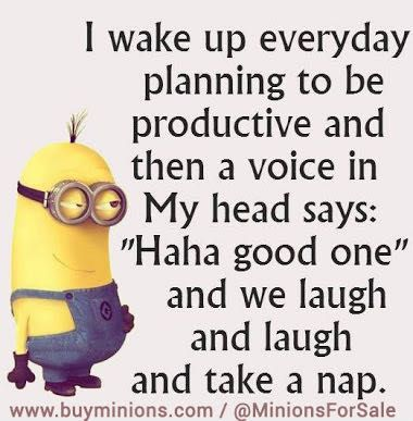 Minion memes and quotes - Being productive