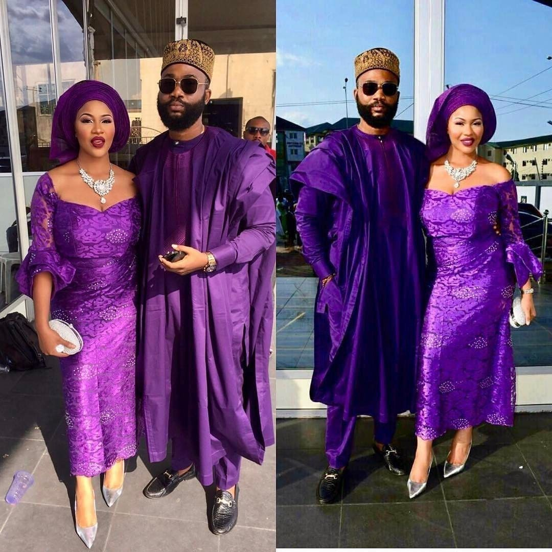 Purple Aso Ebi Combination For Ideas 2020 Wedding Ideas Makeit In 2020 Latest Aso Ebi Styles Bella Naija Weddings Bridal Outfits