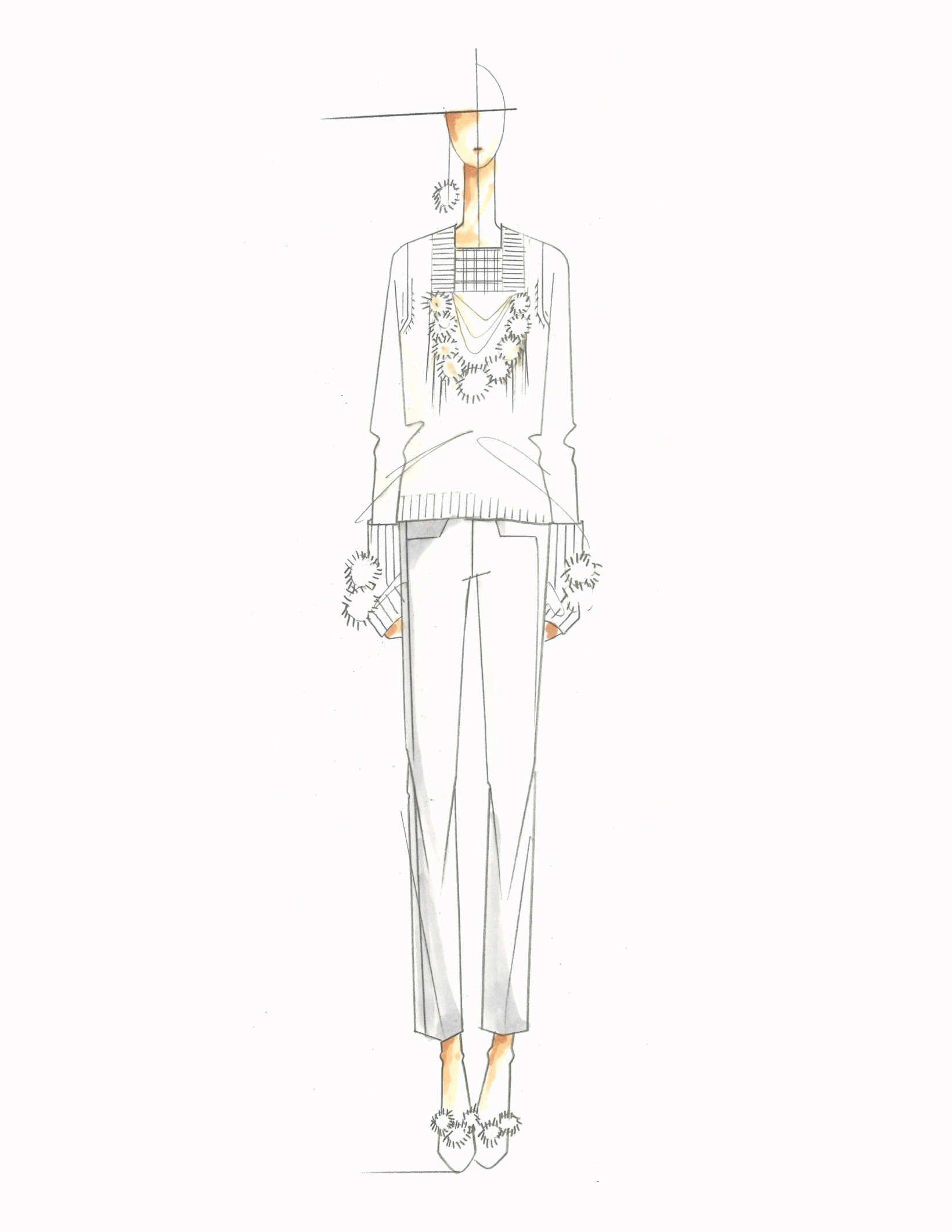 Fashion illustration - chic fashion design sketch for TSE ...