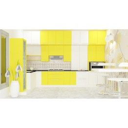 The bright and stunning color combination of the kitchen makes anyone fall in love with it. Made up of Plywood, the compact and neat design makes the kitchen look bright. All units placed at the right place in order to store your kitchen essentials as you need. To make your cooking experience more comfortable scale inch have brought innovative kitchens exclusively for you. Kitchen with the astounding appearance like this gives a rich and elegant look. Other accessories like baskets will be…