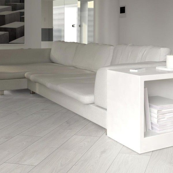 Prestige White Oak 8mm V-Groove Laminate Flooring | Flooring ...