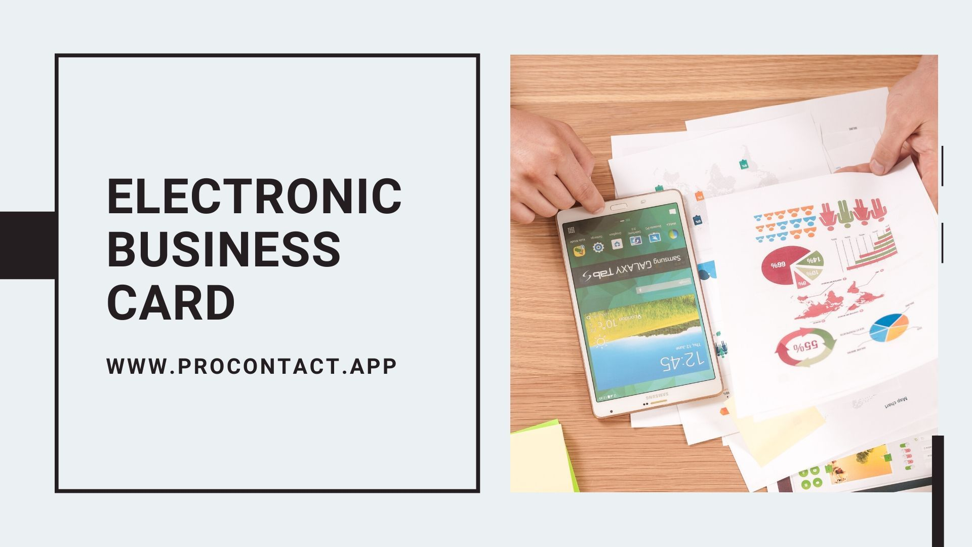 Customize Your Electronic Business Card Business Card App Digital Business Card Electronic Business