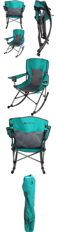 Phenomenal Camping Furniture 16038 Ozark Trail Rocking Chair Folding Inzonedesignstudio Interior Chair Design Inzonedesignstudiocom