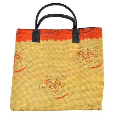 I pinned this Ambuja Kantha Weekender Tote from the Ikat & Kantha event at Joss and Main!