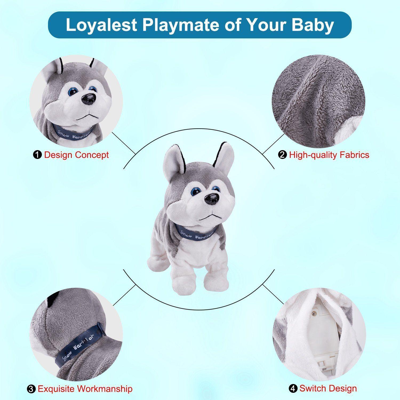 Marsjoy Interactive Puppy Plush Animated Walking Pet Electronic