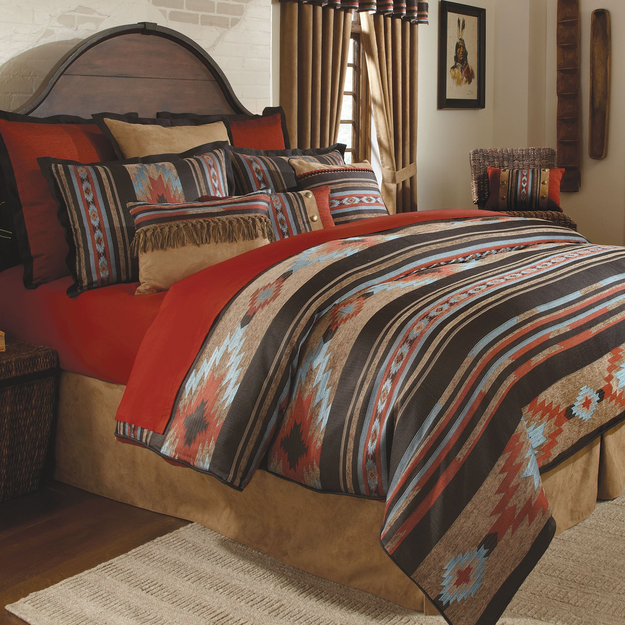 Santa fe southwest comforter bedding by veratex santa fe for Designer inspired bedding