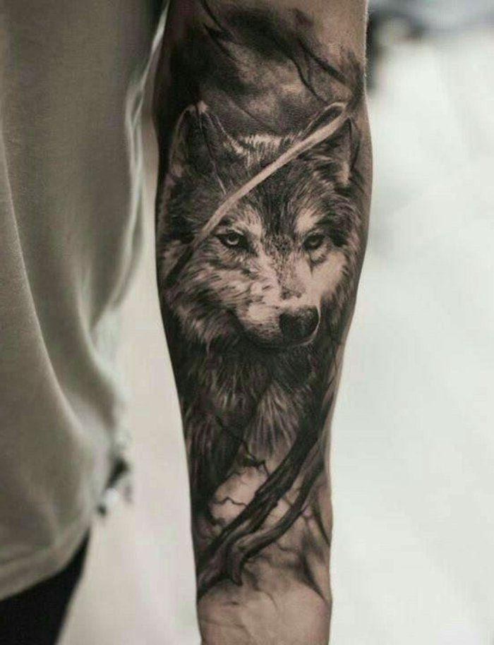 1001 ideen f r einen tollen wolf tattoo die ihnen sehr gut gefallen k nnten tattoo ideen. Black Bedroom Furniture Sets. Home Design Ideas