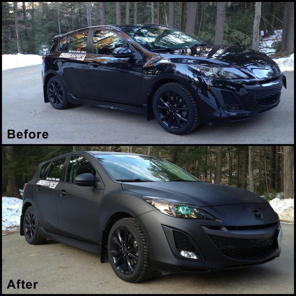 Images And Examples Of Plasti Dipped Cars Plasti Dip Car Mazda 3 Sedan Fix My Car