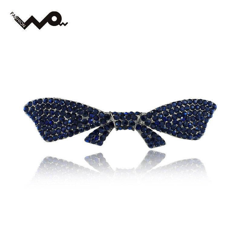 Elegante Bowknot Borboleta Strass Chic Cristal Barrette Grampo de Cabelo Hairpin Acessórios de Cabelo Jóias Para O Casamento Mulher F118