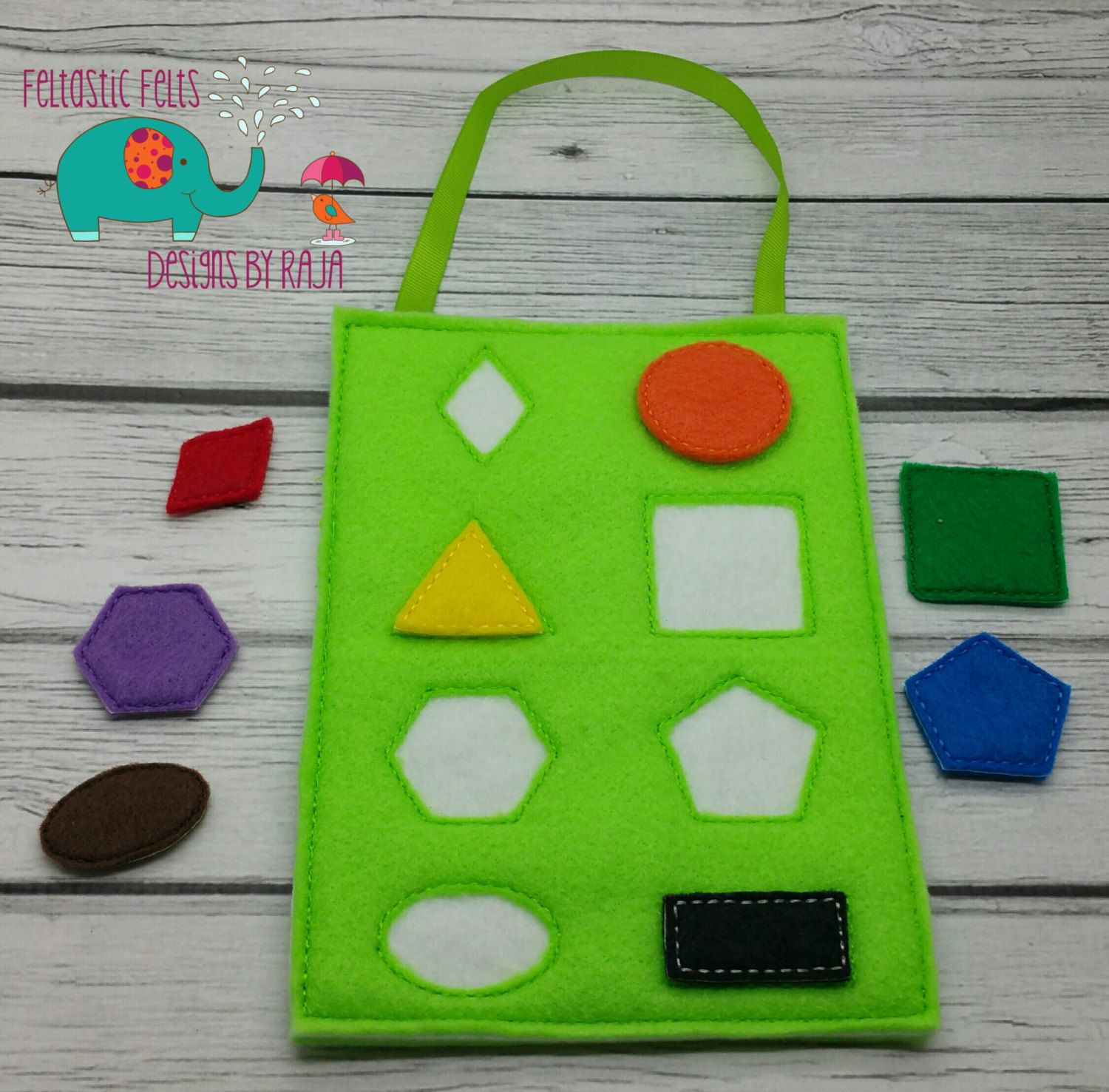 Shape matching game, kids games, busy bags activity, travel game ...
