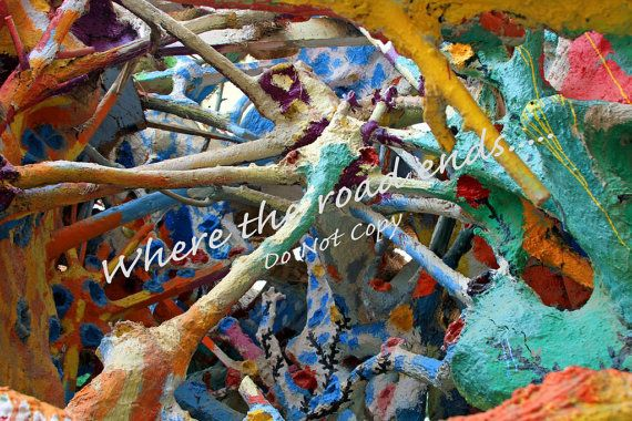 Salvation Mountain Structure by WhereTheRoadEnds on Etsy