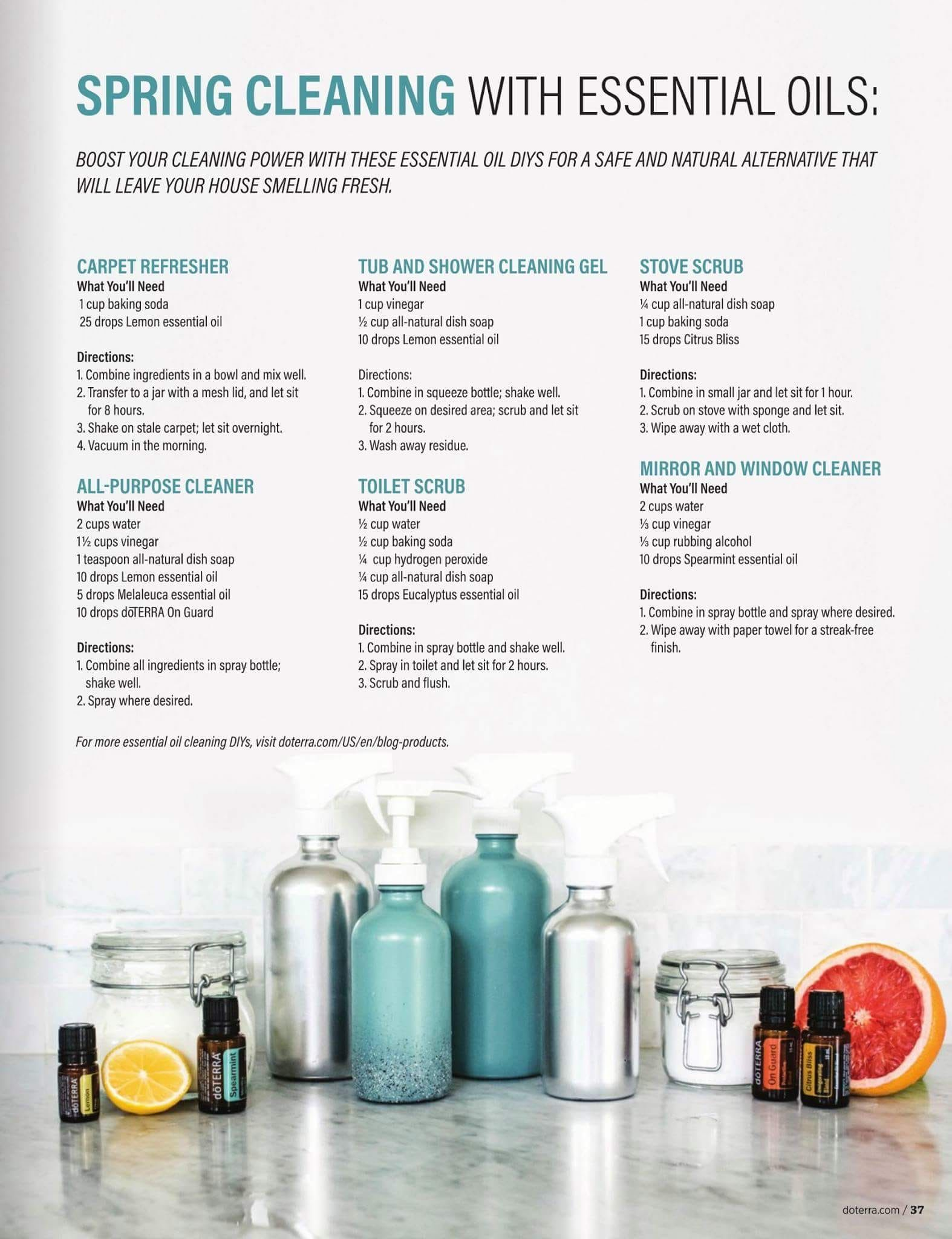 Spring Cleaning Essential Oils Cleaning Essential Oil Cleaning Recipes Diy Essential Oils