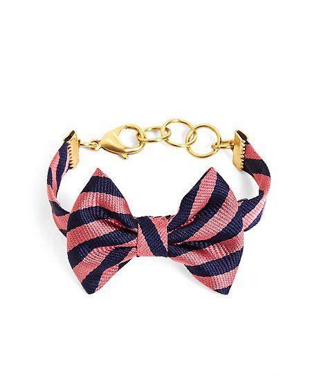 99296f94812d Kiel James Patrick Navy and Pink BB#5 Stripe Bow Tie Bracelet ...