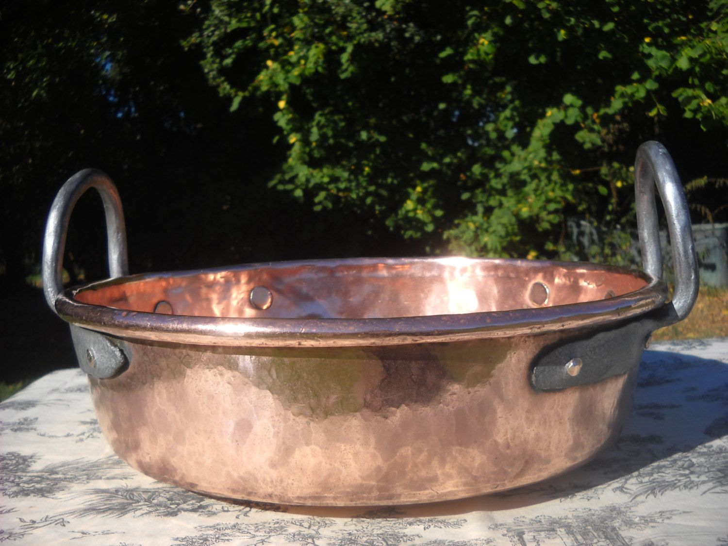 French Antique Copper Jam Jelly Preserves Pan 3.7 kilos About 8lbs ...