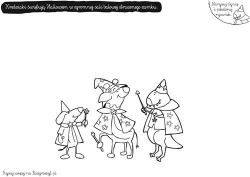 Kolorowanki Halloween Bal Przebierancow Bazgroszyt Pl