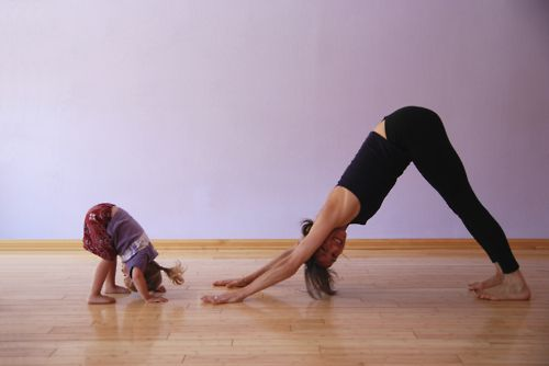 Oh I love this so much! Doing yoga with little ones is so amazing!!