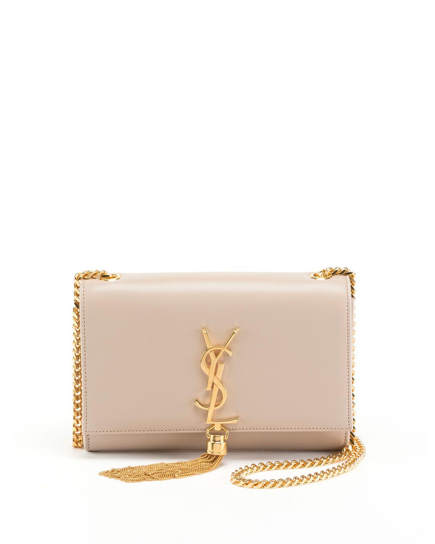 d6267dde915 Kate Monogram YSL Small Tassel Shoulder Bag with Golden Hardware in ...