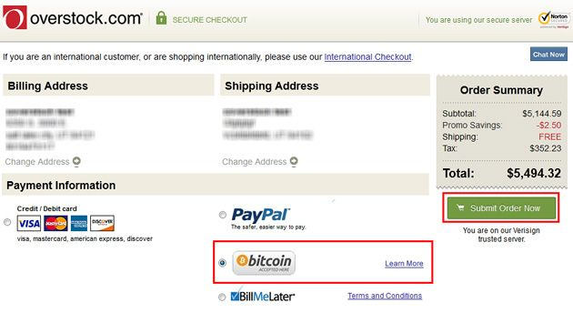 One step closer to legitimacy: Bitcoin payment live on