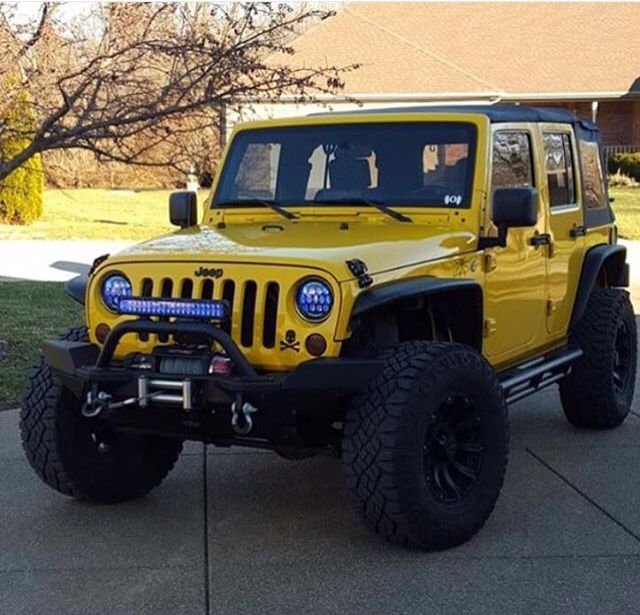 Yellow Jeep Jk With Great Look Wheels Dream Cars Jeep Old Jeep Wrangler Yellow Jeep Wrangler
