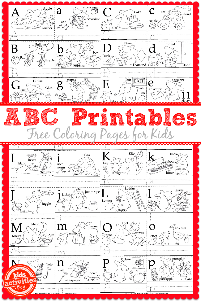 Learn to Write the ABC\'s with Free Kids Printables | Coloring, Kid ...
