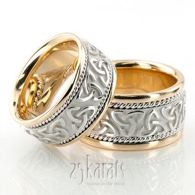 Hh Hc100209 14k Gold Bestseller Celtic Wedding Ring Set Celtic Wedding Rings Celtic Wedding Ring Sets Wedding Rings