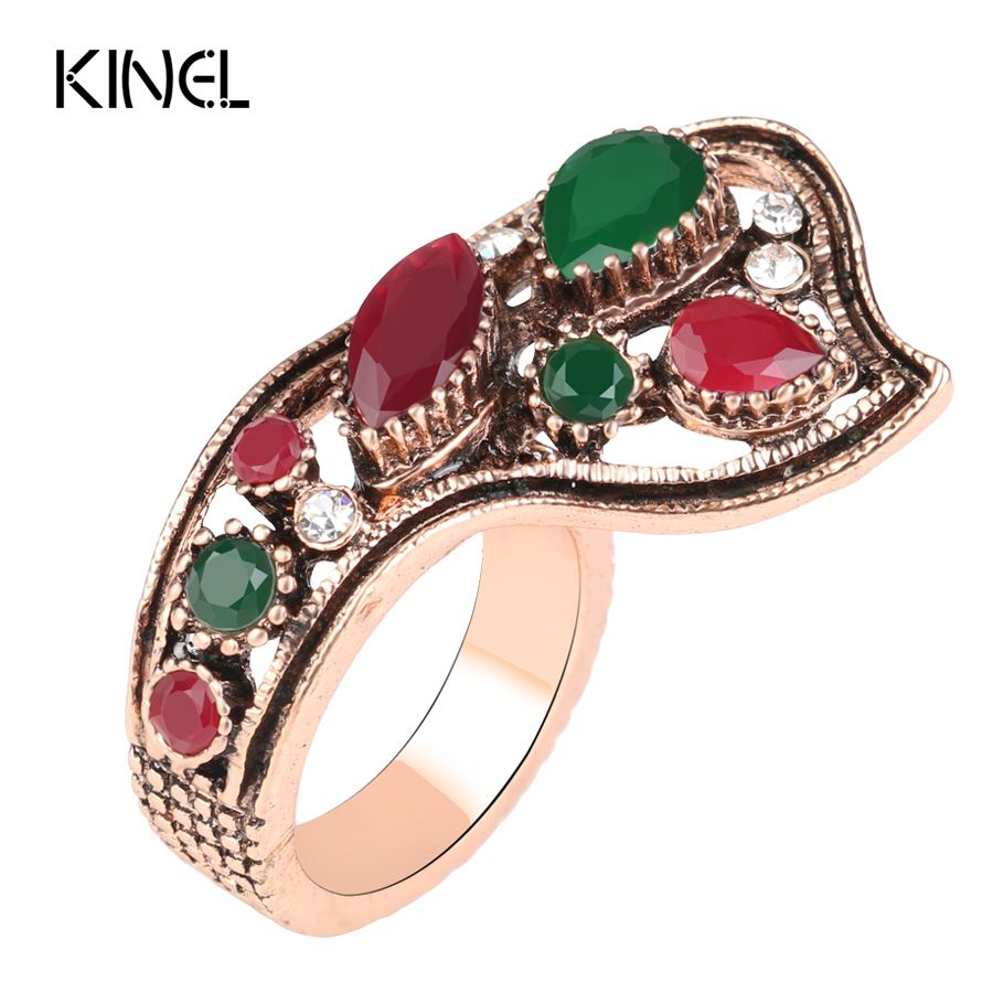 luxury turkish jewelry fashion color gold dubai hot ring red resin wedding rings for women best - Turkish Wedding Ring
