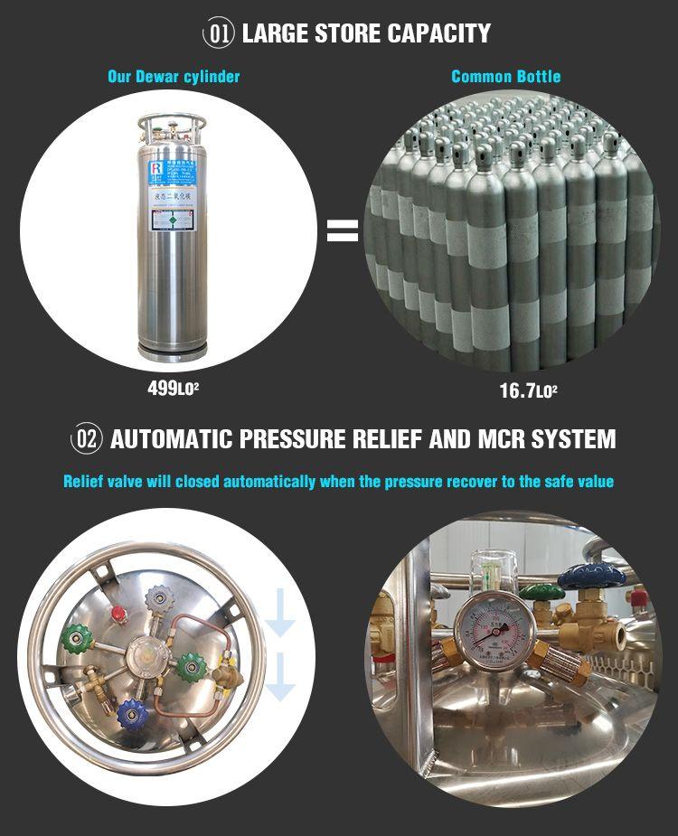 liquid CO2 Gas Cylinder   175L 499L Micro bulk tank   Liquid