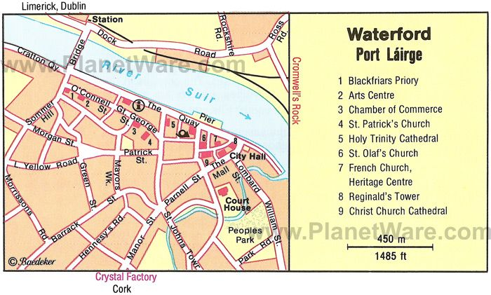 Map Of Waterford Ireland.Waterford Map Tourist Attractions Get Print Out Of Top