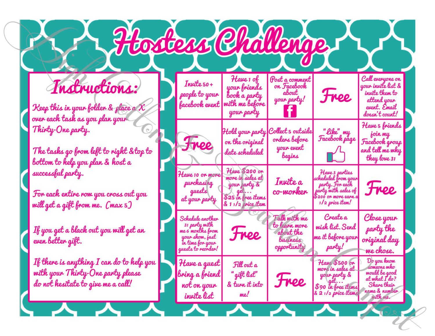 Awesome Hostess Challenge Game Inspired By By Highcottonsouthernco Birthday Cards Printable Opercafe Filternl