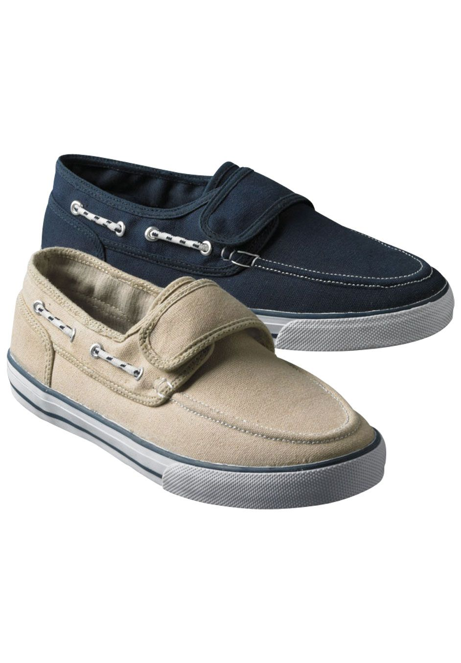 Looking for summer shoes that are wide width, comfy, and easy to put on.  Big and Tall Velcro Deck Shoes