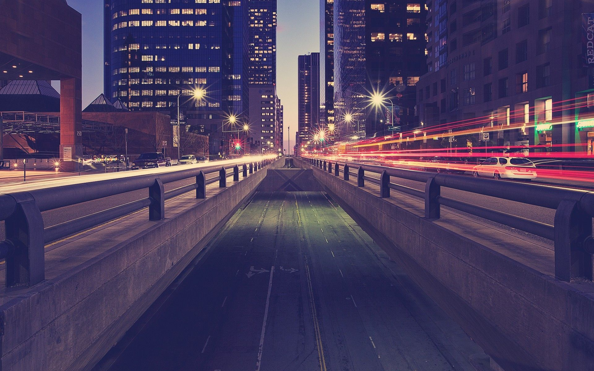 Download Wallpaper 1920x1200 Road Traffic Night City Lights