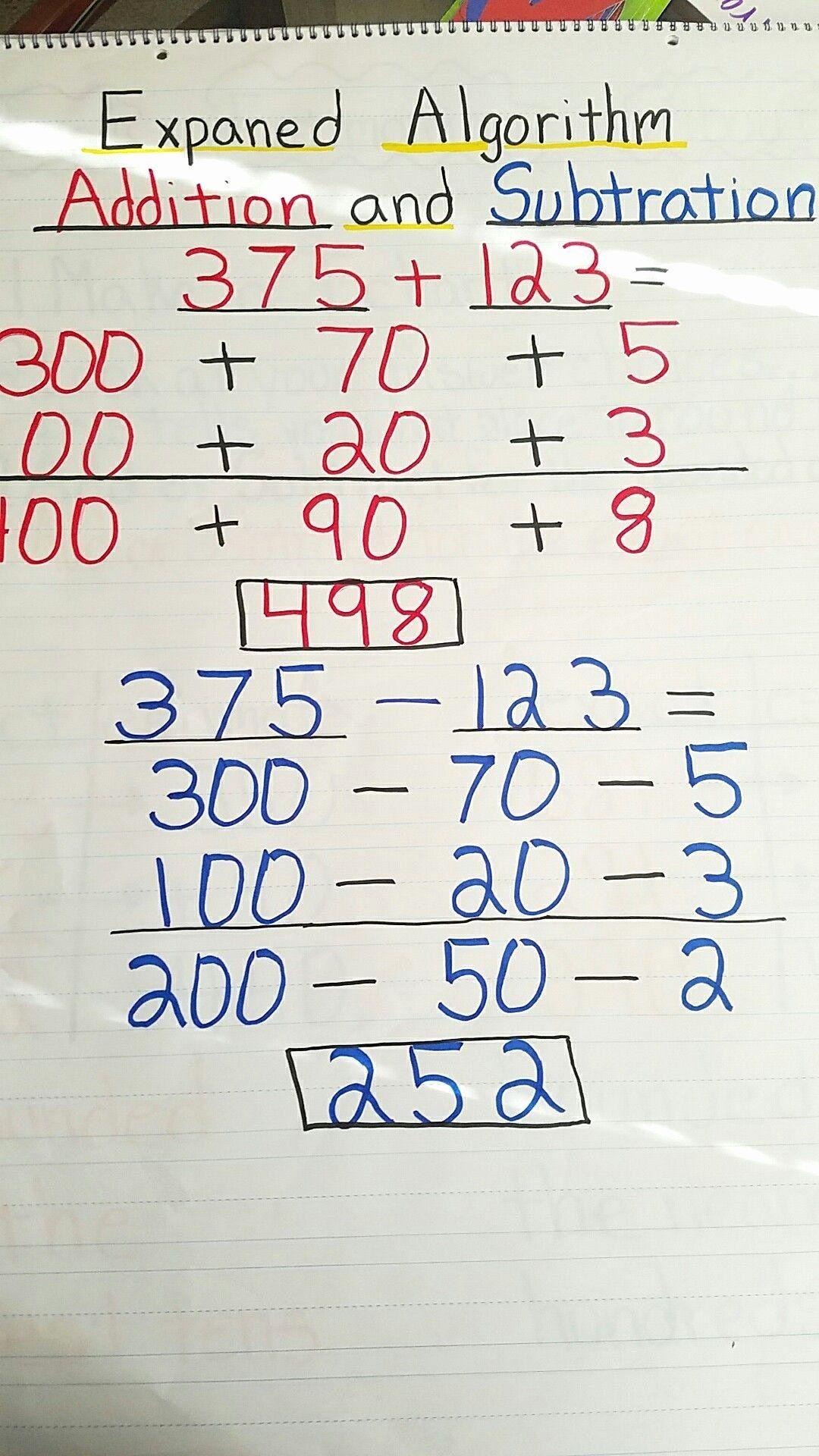 Expanded Algorithm Multiplication Worksheets Best Of Expanded Algorithm Addition An Math Practice Worksheets Addition And Subtraction Printable Math Worksheets Addition using expanded algorithm