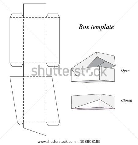 Interesting Box Template With Lid Vector Illustration Icone Idee