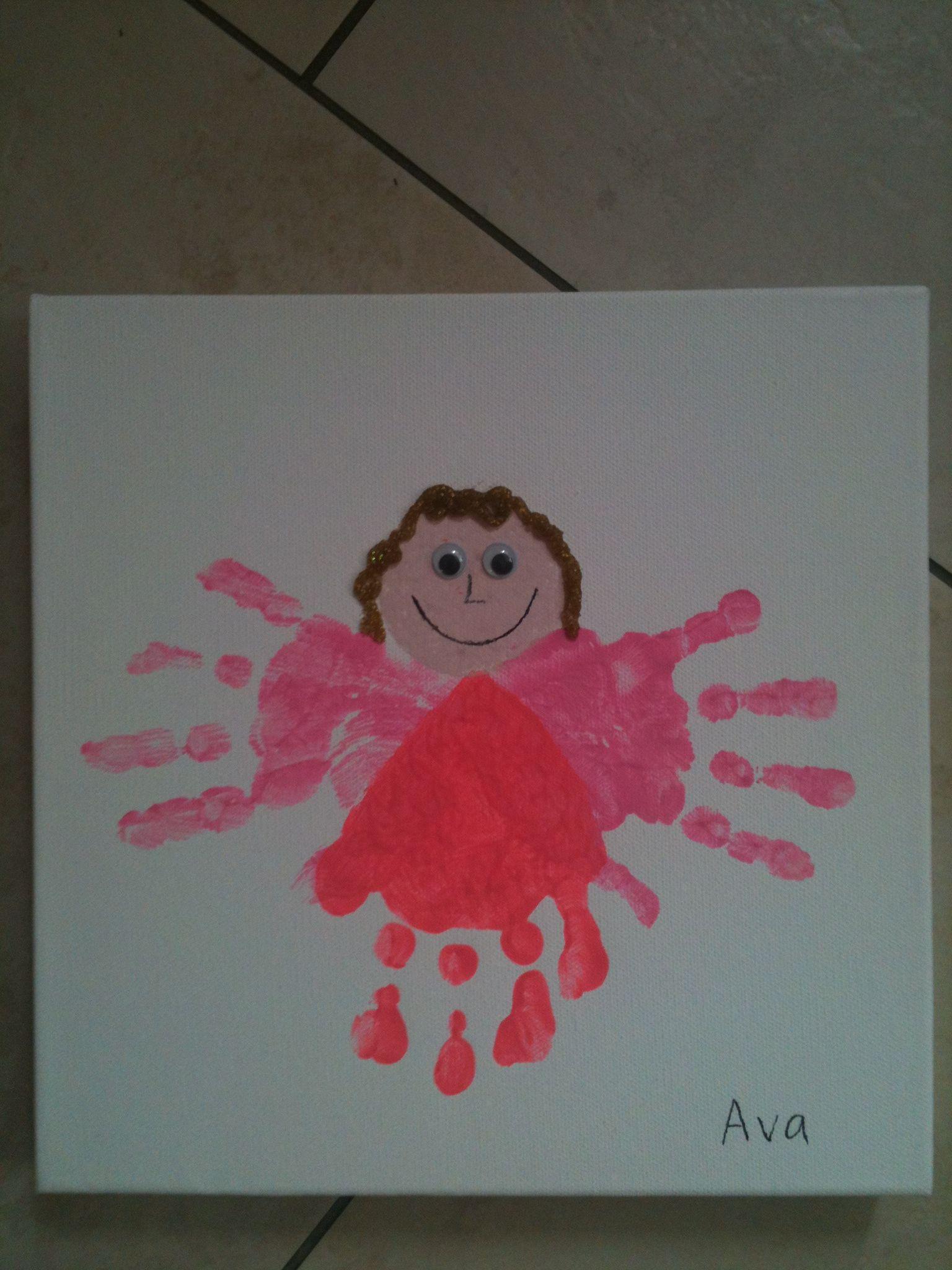 Fairy Handprint Art