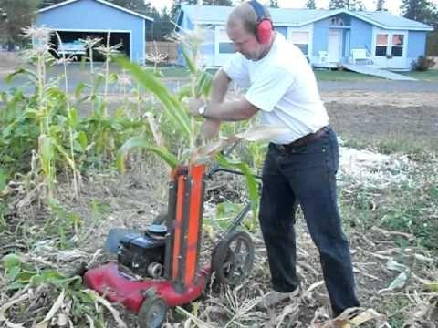 Homemade small scale corn stalk chipper chopper for Small scale homesteading