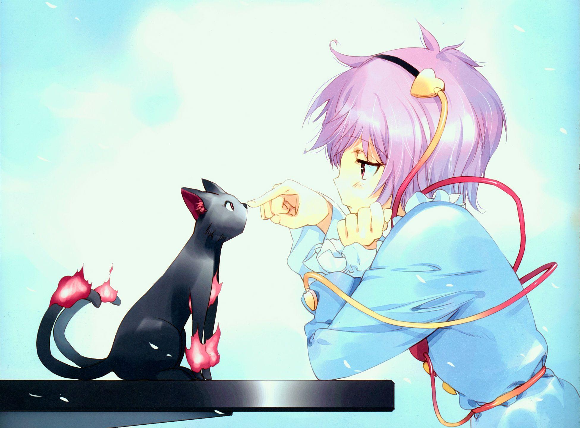 Anime Touhou Wallpaper 四月は君の嘘, 猫 アニメ, 古明地さとり