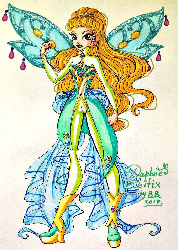 Daphne By Vivienvaider Winx Club Art Sketches