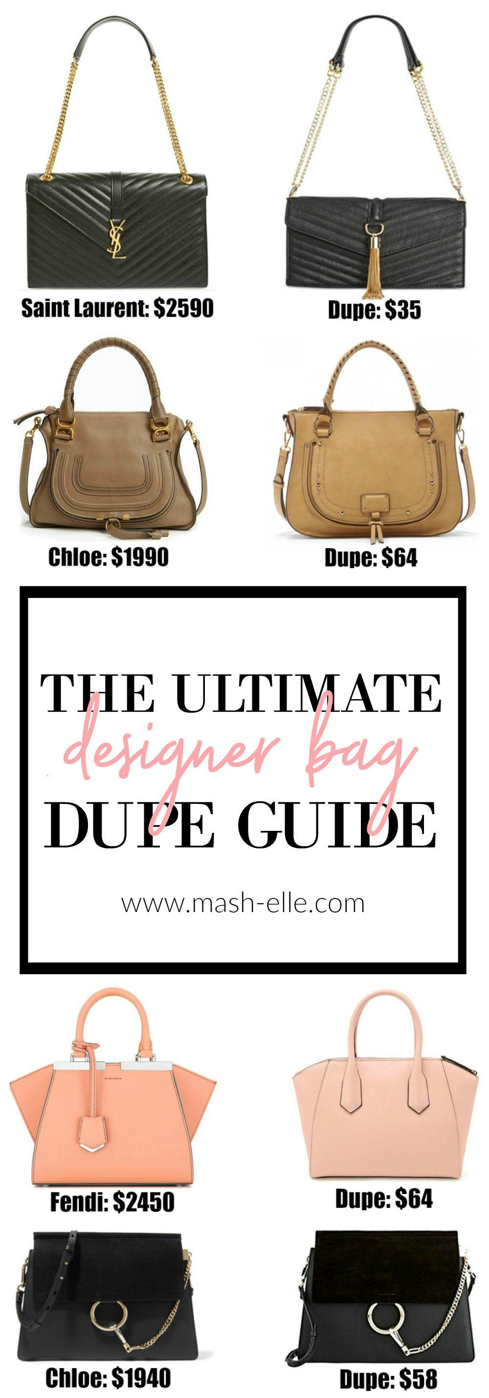 3474a4f1df Fashion blogger Mash Elle shares a complete designer bag dupe guide!  Affordable designer bag dupes for Chloe