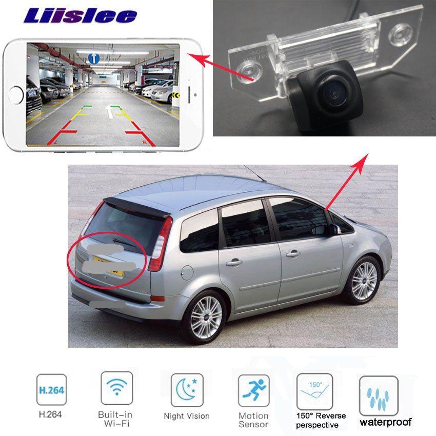 Liislee Car Rear View Wifi Camera For Ford Focus Sedan 2 3 C Max Hd Reverse License Plate Backup Wireless