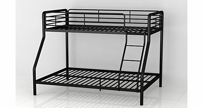 PKL Leisure Bunk Bed Triple Metal Frame Childrens 3ft Single 4ft6 Double in Blac