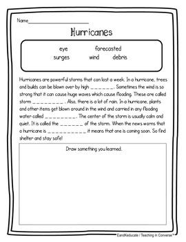 natural disasters weather hurricanes non fiction science and literacy unit. Black Bedroom Furniture Sets. Home Design Ideas