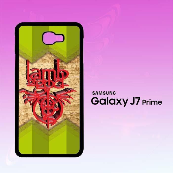 lamb of god logo vector Z2430 Samsung Galaxy J7 Prime Case